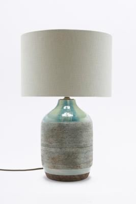 Urban Outfitters | Ceramic Base Linen Table Lamp