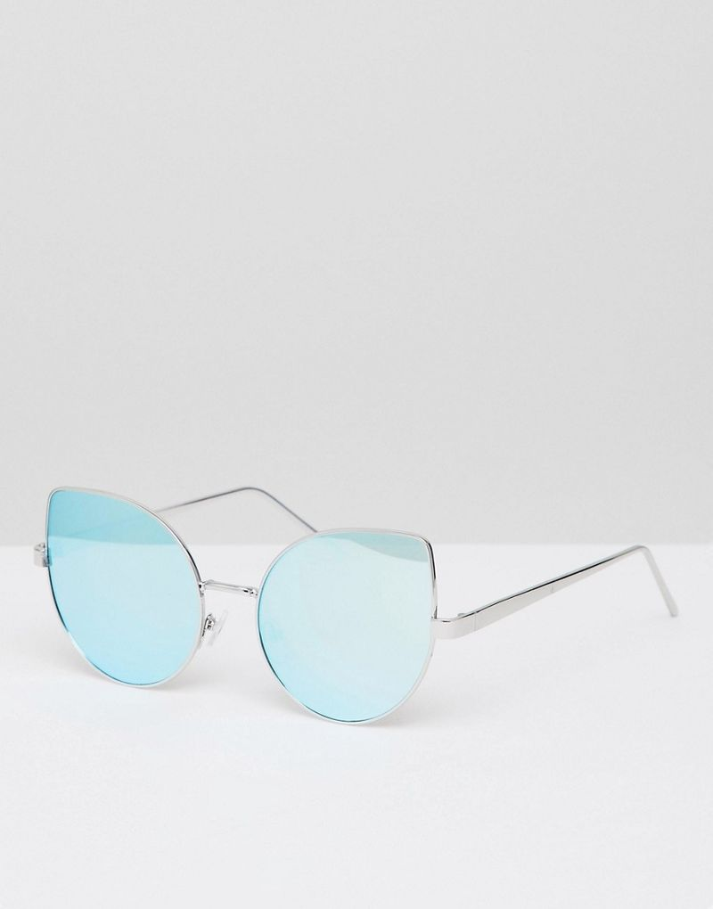 bf09d9b2e341 New Look Cateye Reflective Sunglasses - Blue - ASOS | ShopSpy.lt