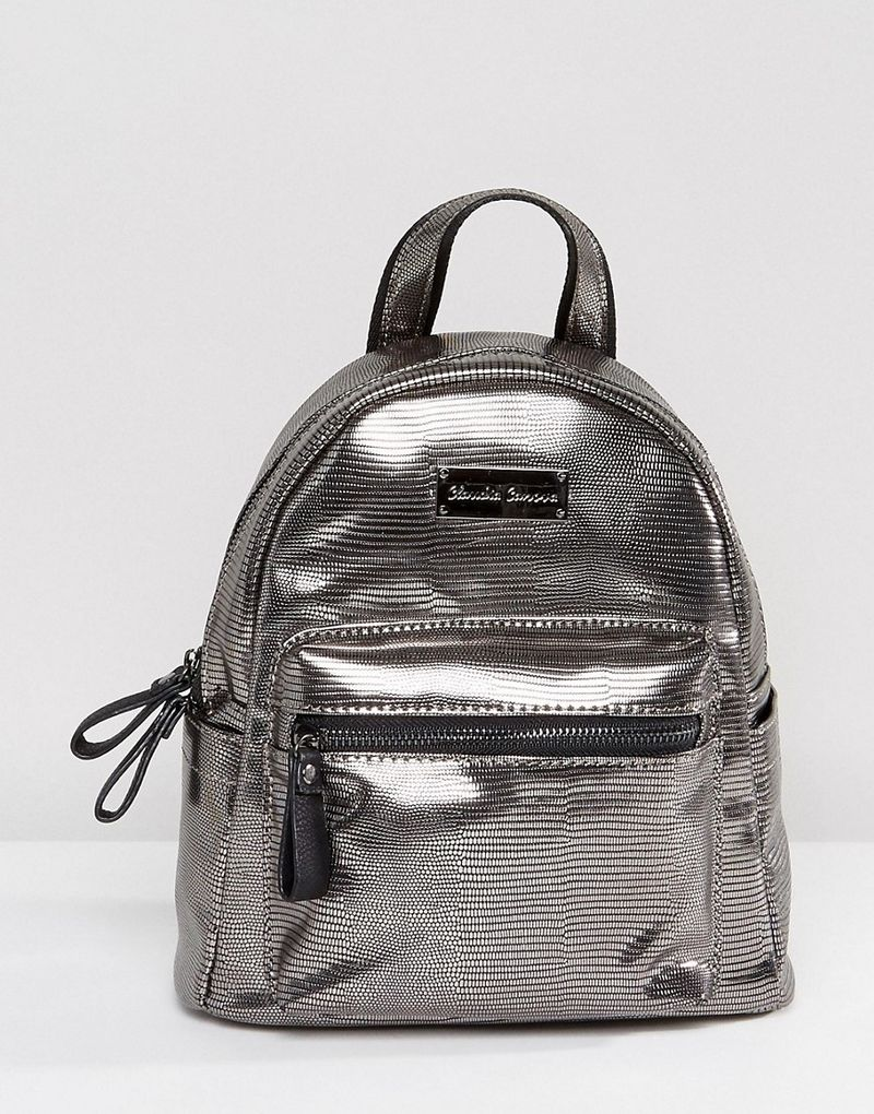 Claudia Canova Mini Pewter Backpack - Silver - ASOS  adde364938510