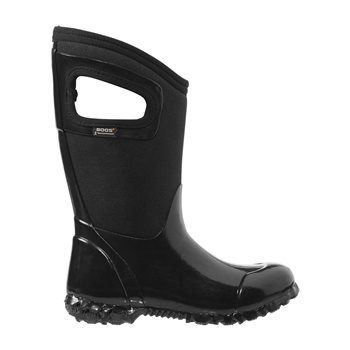 Bogs Kids North Hampton Solid Black Boots