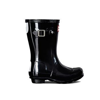 Hunter Original Kids Gloss Boots Black