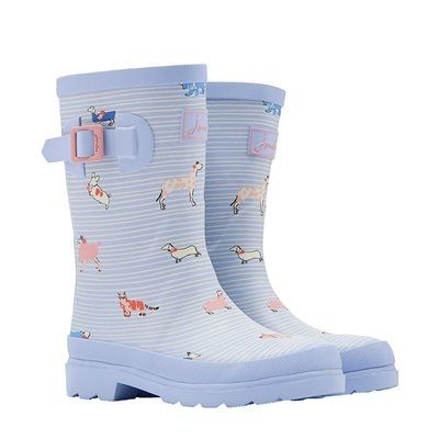 d6a416c16ee Joules Junior Girls Welly Sky Blue Sunday Best Dogs - Pet and Country |  ShopSpy.lt
