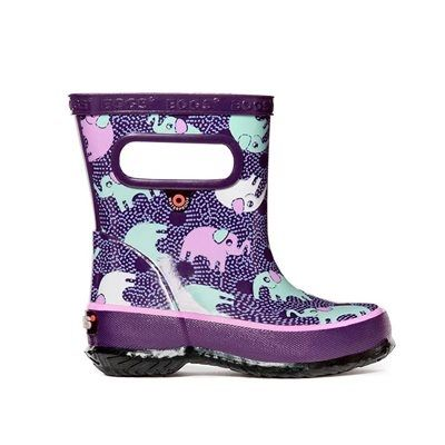 Bogs Baby Skipper Elephants Boots Purple Multi